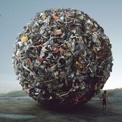 мусор, шар из мусора